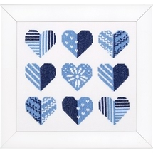 Blue Hearts Sampler