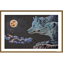 Moonlight Night Bead Embroidery