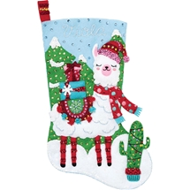 Christmas Llama Stocking