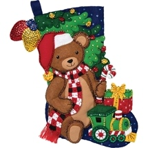 Christmas Teddy Bears Stocking
