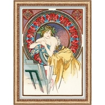 Mucha's Girl with Easel
