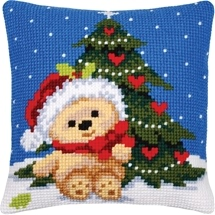 Teddy & Christmas Tree Cushion