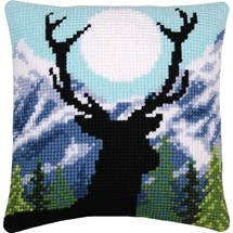 Stag & Moonlight Cushion