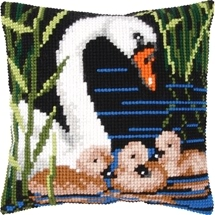 Swan & Cygnets Cushion