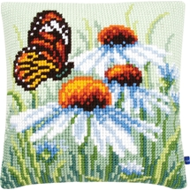 Butterfly & Flowers Cushion