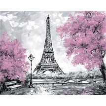 Eiffel Tower in Bloom Diamond Painting