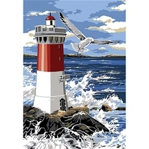 Lighthouse & Waves Diamond Painting