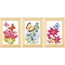 Flowers & Butterflies Trio