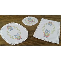 Lace Edged Doilies Owl