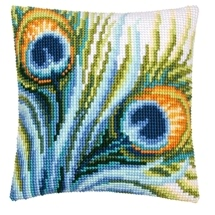 Peacock Feather Cushions