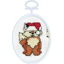 Christmas Fox Cross Stitch Kit
