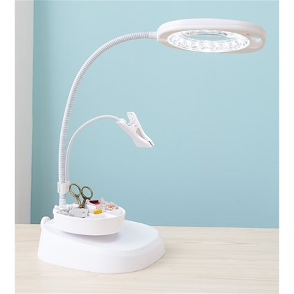 Led Magnifier Floor Lamp With Clip The Fox Collection