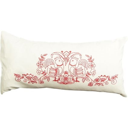 Red Hens Zippered Cushion Cover