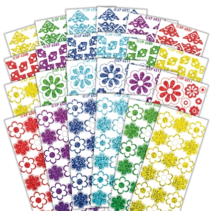 Holographic Multi Flower Stickers