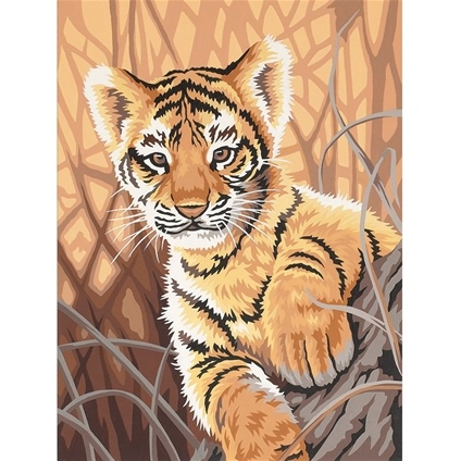 Tiger Cub Intermediate Paint By Numbers