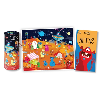 Aliens Jigsaw Puzzle & Book