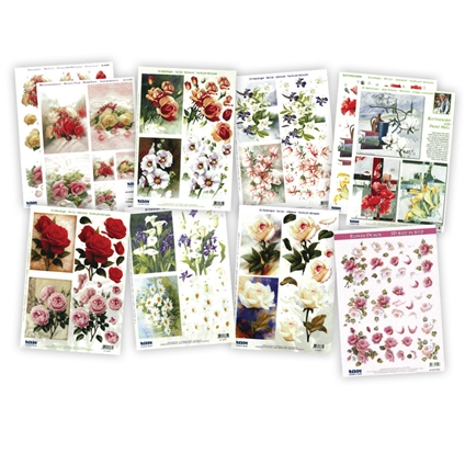 3D Decoupage Kit - Flowers