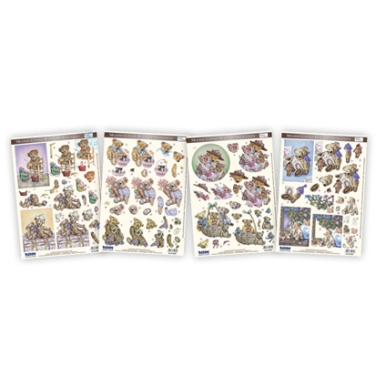 3D Decoupage Kit - Cute Bears