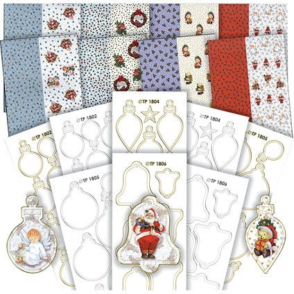 3D Decoupage Paper and Sticker Set - Christmas