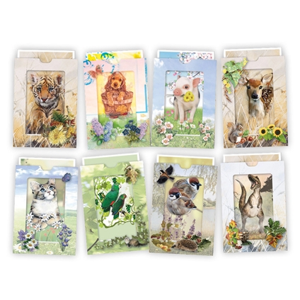 3D Tiered Animal Card Kit