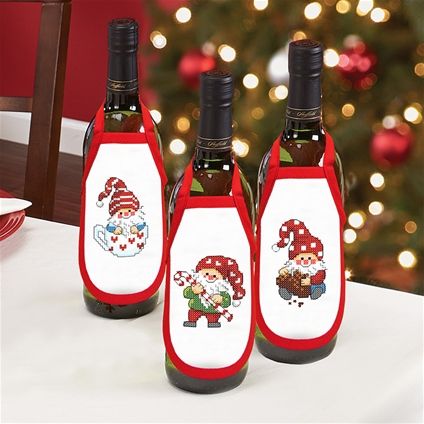 Christmas Elves Wine Aprons